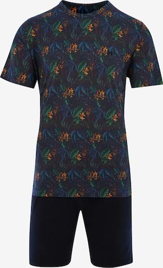HOM Pyjama 'Dark Botanic' in mischfarben / schwarz, Produktansicht
