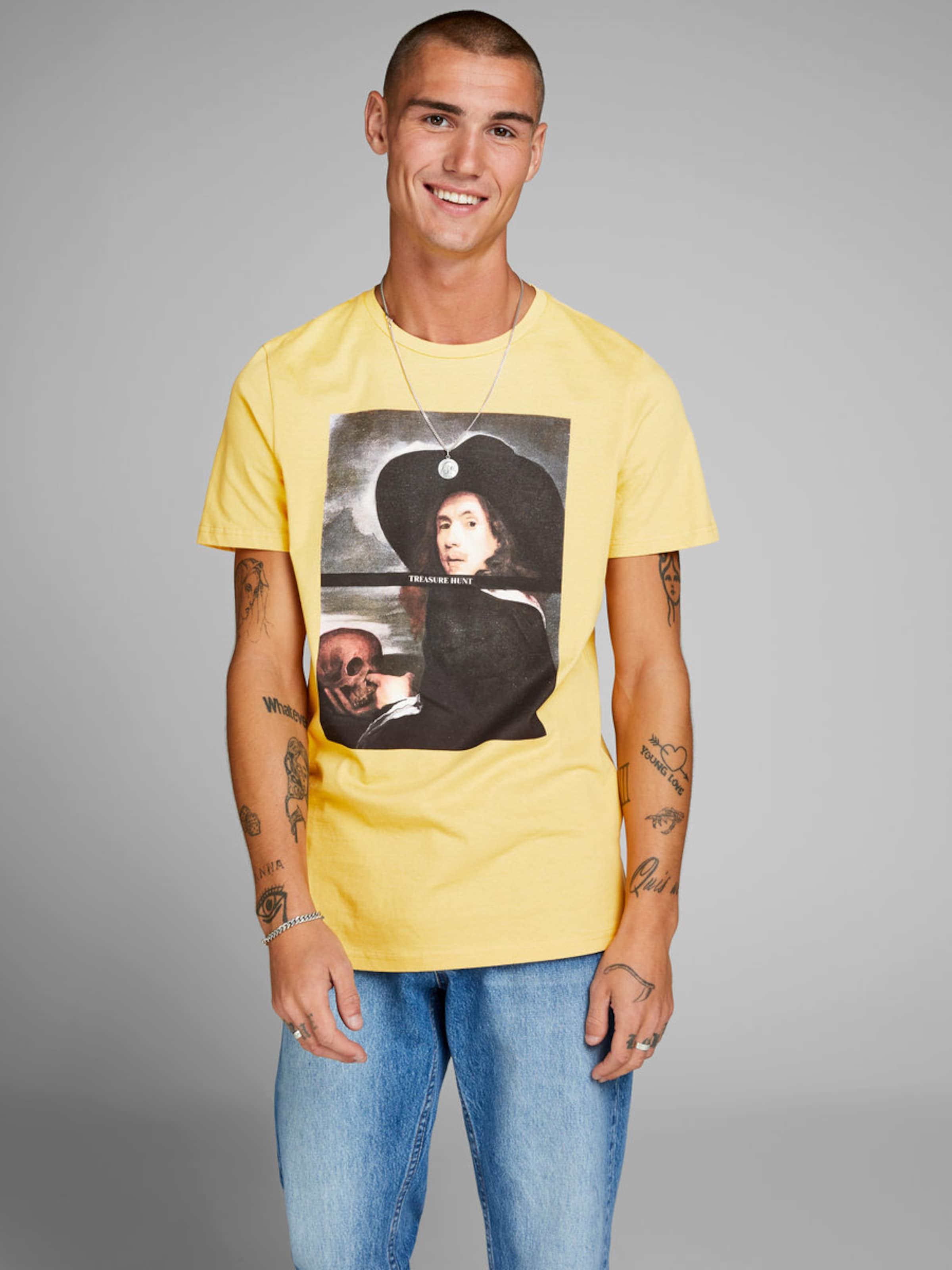 Jones T Jackamp; shirt BeigeGelb Schwarz In SUqVMGpz