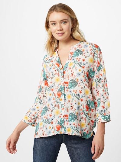 Bluză TOM TAILOR pe verde / roșu / alb, Vizualizare model