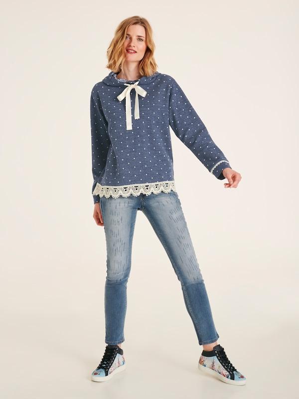 Heine Sweatshirt in blau blau blau   weiß  Markenkleidung für Männer und Frauen 73cc70
