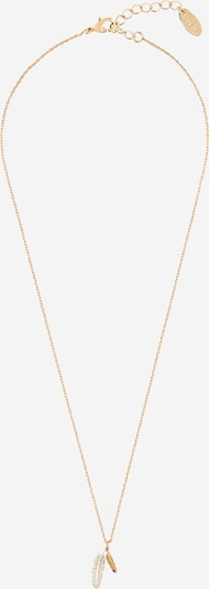 Orelia Kette 'DOUBLE FEATHER DITSY ' in gold, Produktansicht