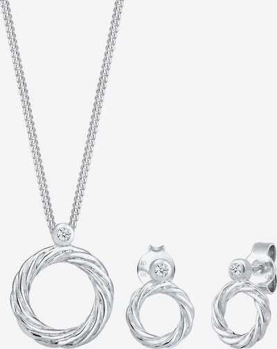 Diamore Parure de bijoux 'Kreis' en argent, Vue avec produit