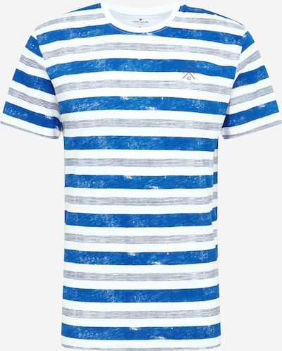 Tricou TOM TAILOR pe albastru / alb, Vizualizare produs