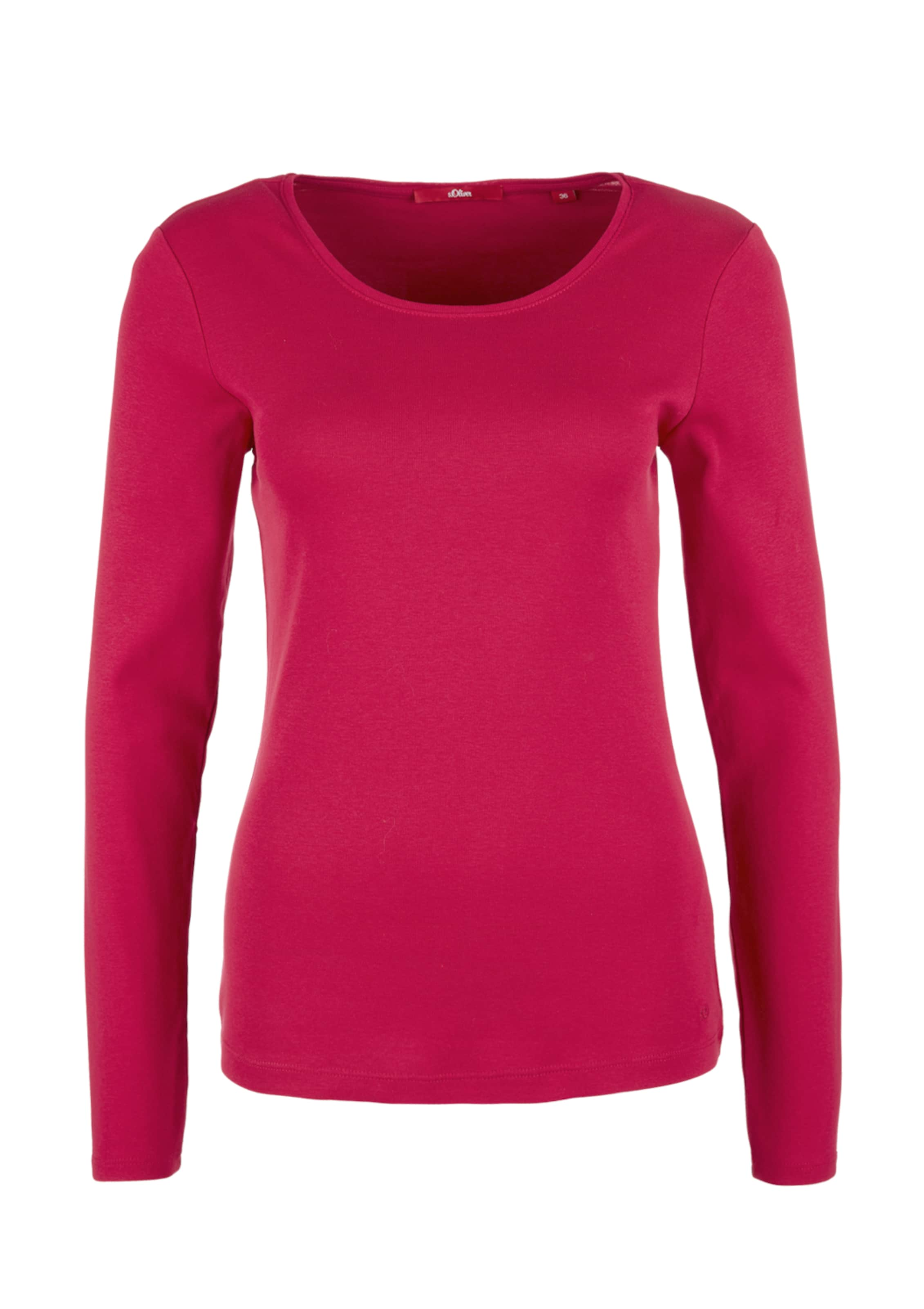 In Longsleeve oliver oliver oliver Longsleeve Dunkelpink S S In Dunkelpink S WH2ED9I