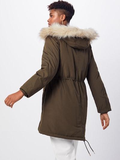 Ilga rudeninė-žieminė striukė 'LUXE' iš GAP , spalva - alyvuogių spalva: Vaizdas iš galinės pusės