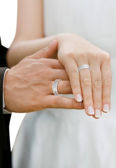 ELLI PREMIUM Ring 'Paarring' in silber: Frontalansicht