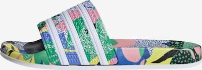ADIDAS ORIGINALS Pantolette  'Adilette' in hellblau / grün / pink, Produktansicht