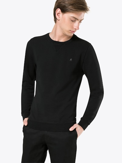 REPLAY Sweatshirt in schwarz: Frontalansicht