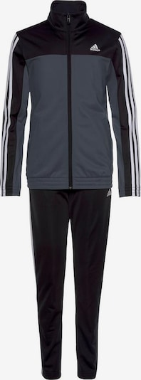 ADIDAS PERFORMANCE Trainingsanzug in taubenblau / schwarz / weiß, Produktansicht