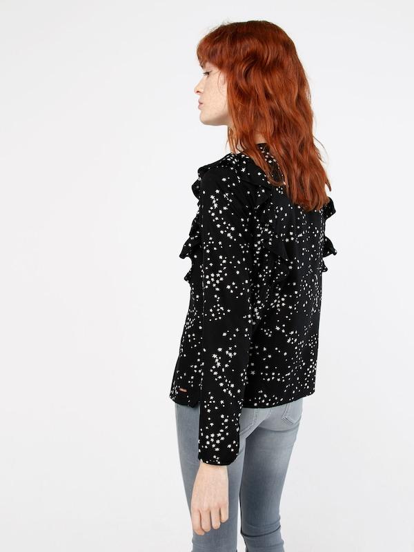 Tom Tailor Denim Blouse With Stars-print