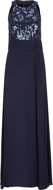 Pailletten Black Maxikleid Glamouröses Mit oliver S Label Nachtblau W1qnY1g