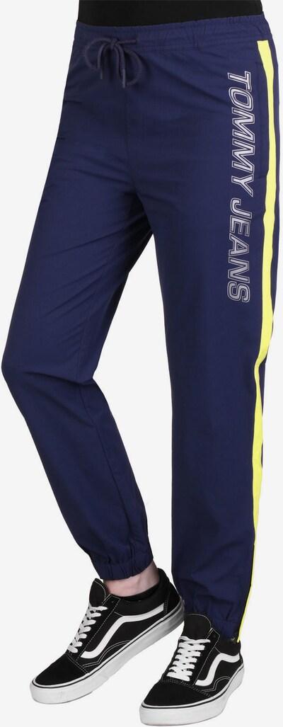 Tommy Jeans Pantalon en bleu / jaune, Vue avec produit