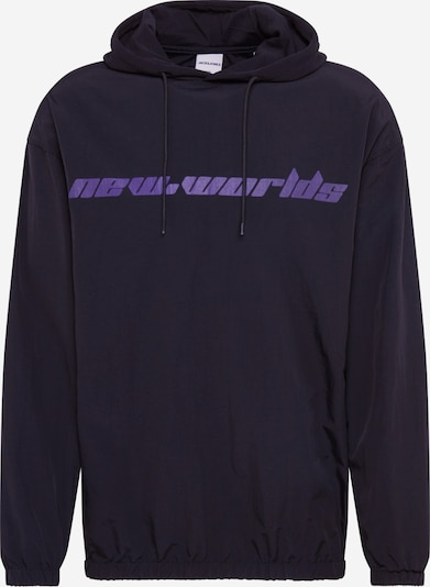 JACK & JONES Sweat-shirt 'JCOREVO LS NYLON JUMPER TC419' en violet / noir, Vue avec produit
