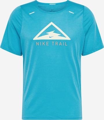 NIKE Funktionsshirt 'Rise 365 Trail' in Blau