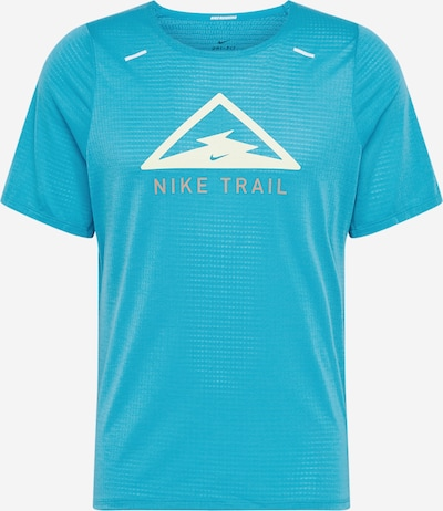 NIKE Funktionsshirt 'Rise 365 Trail' in beige / blau / weiß, Produktansicht