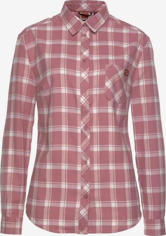 Schöffel Athletic Button Up Shirt in Pink