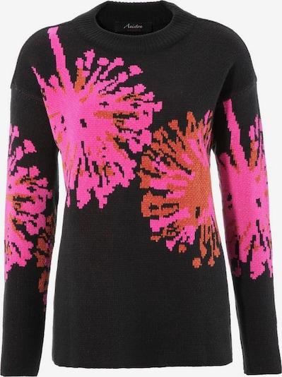 Aniston CASUAL Pullover in pink / rostrot / schwarz, Produktansicht