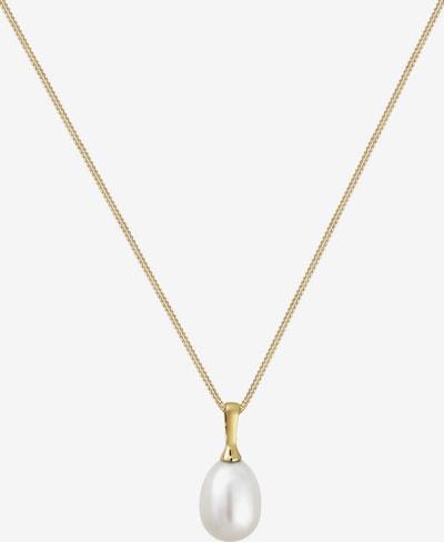 ELLI PREMIUM Kette in gold / perlweiß, Produktansicht