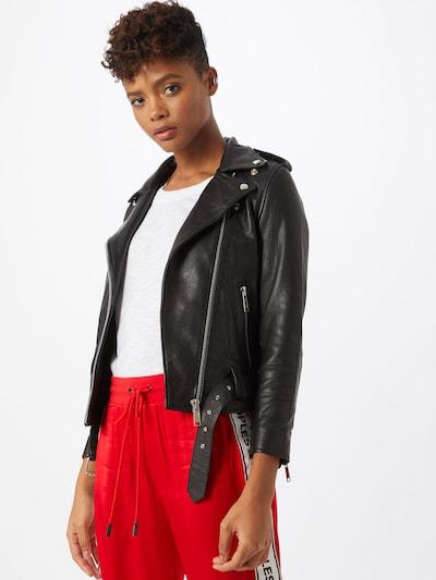 RAIINE Lederjacke 'Mitchell' in schwarz, Modelansicht