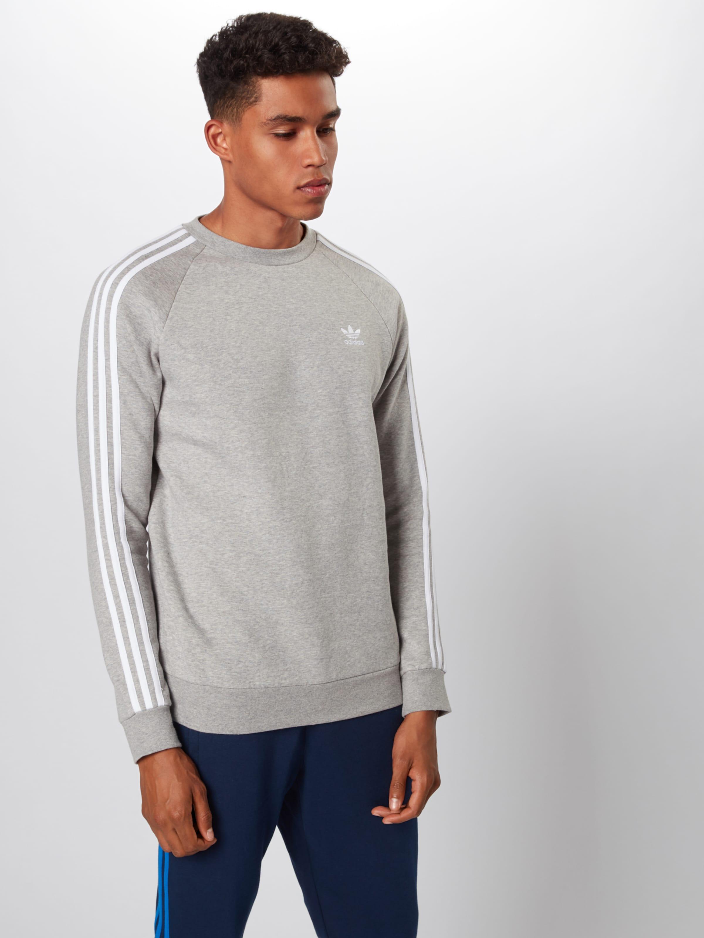 In streifen' '3 Adidas Sweatshirt Originals Hellgrau j4RL5A