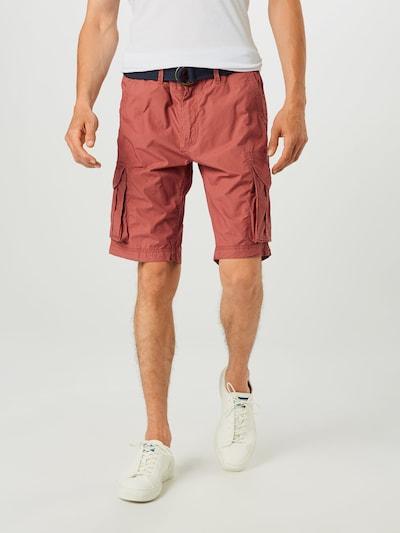 Pantaloni cu buzunare Petrol Industries pe albastru închis / roșu pastel, Vizualizare model