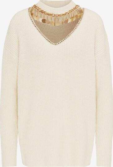 faina Pullover in beige / gold, Produktansicht