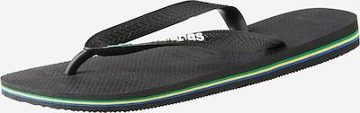 HAVAIANAS Zehentrenner 'Brasil Logo' in schwarz, Produktansicht