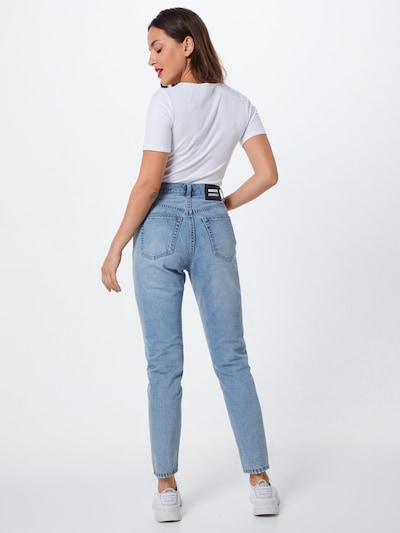 Dr. Denim Jeans 'Nora' i blå denim: Sedd bakifrån