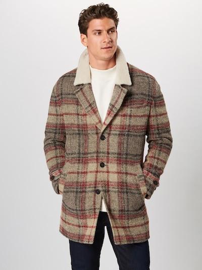 DRYKORN Zimný kabát 'SUNT' - sivá / červené, Model/-ka