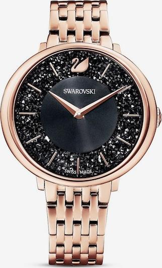 Swarovski Uhr in gold / rosegold / schwarz, Produktansicht