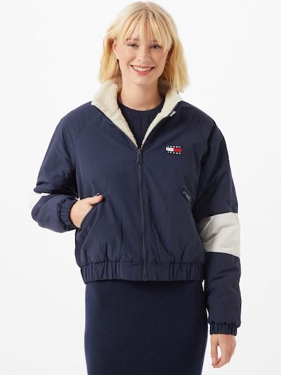 Tommy Jeans Jacke in creme / navy / weiß, Modelansicht