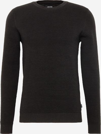 JACK & JONES Trui 'JJELIAM KNIT CREW NECK NOOS' in de kleur Zwart, Productweergave