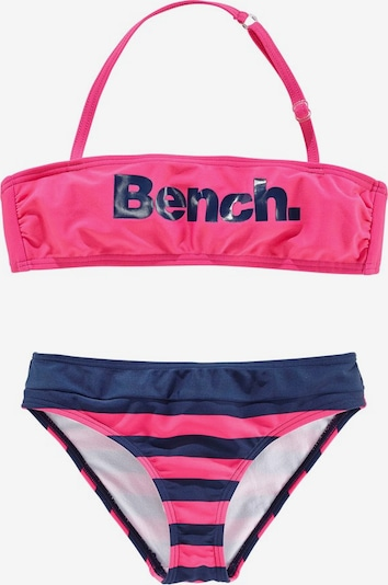 BENCH Bandeau-Bikini in blau / pink, Produktansicht