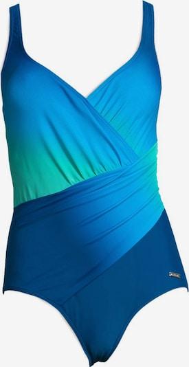 Costum de baie modelator LASCANA pe albastru / verde, Vizualizare produs