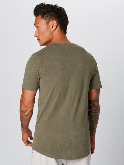 JACK & JONES Shirt 'EHUGO' in de kleur Olijfgroen: Achteraanzicht