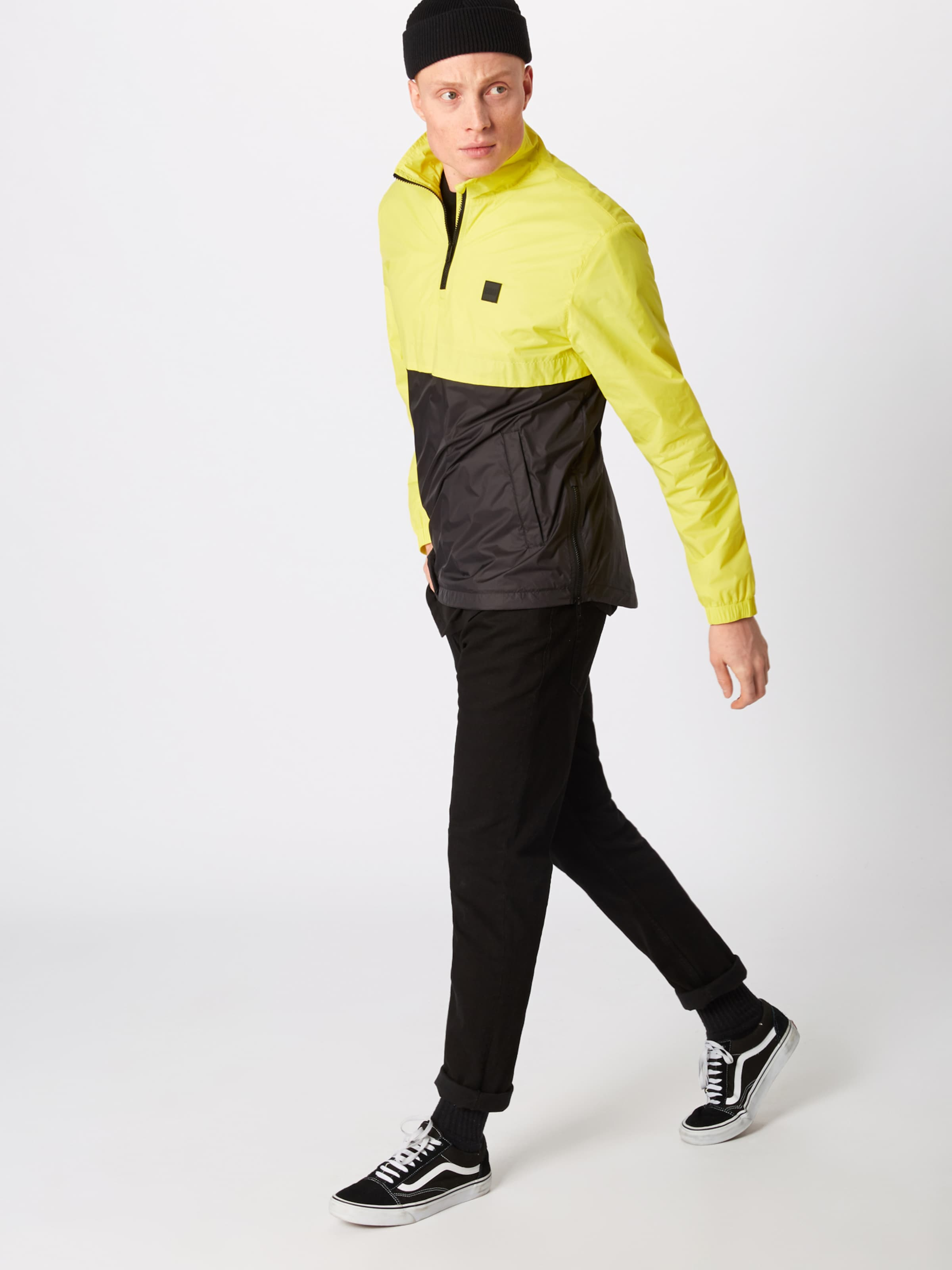 Collar In Gelb 'stand Jacket' Classics Up Pull Over Urban Jacke N0wOvmy8n