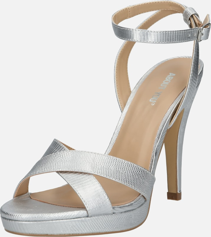 ABOUT YOU Plateau-Pumps 'Valentina' in silber, Produktansicht