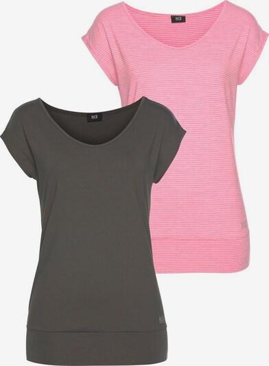 HIS JEANS Funktionsshirt in pink / schwarz, Produktansicht