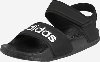 ADIDAS PERFORMANCE Cipele za plažu/kupanje 'Adilette' u crna / bijela: Prednji pogled