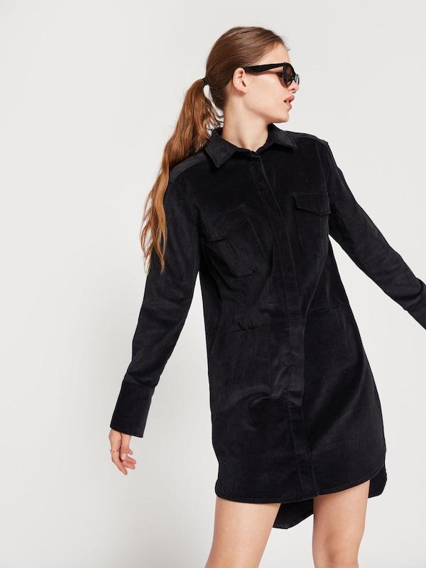 Noir chemise Robe 'fleur' En Edited SzpMVqU