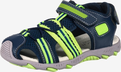 myToys-COLLECTION Sandale in blau / neongrün, Produktansicht