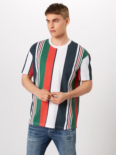 Urban Classics T-Shirt en bleu marine / vert / rouge / blanc: Vue de face