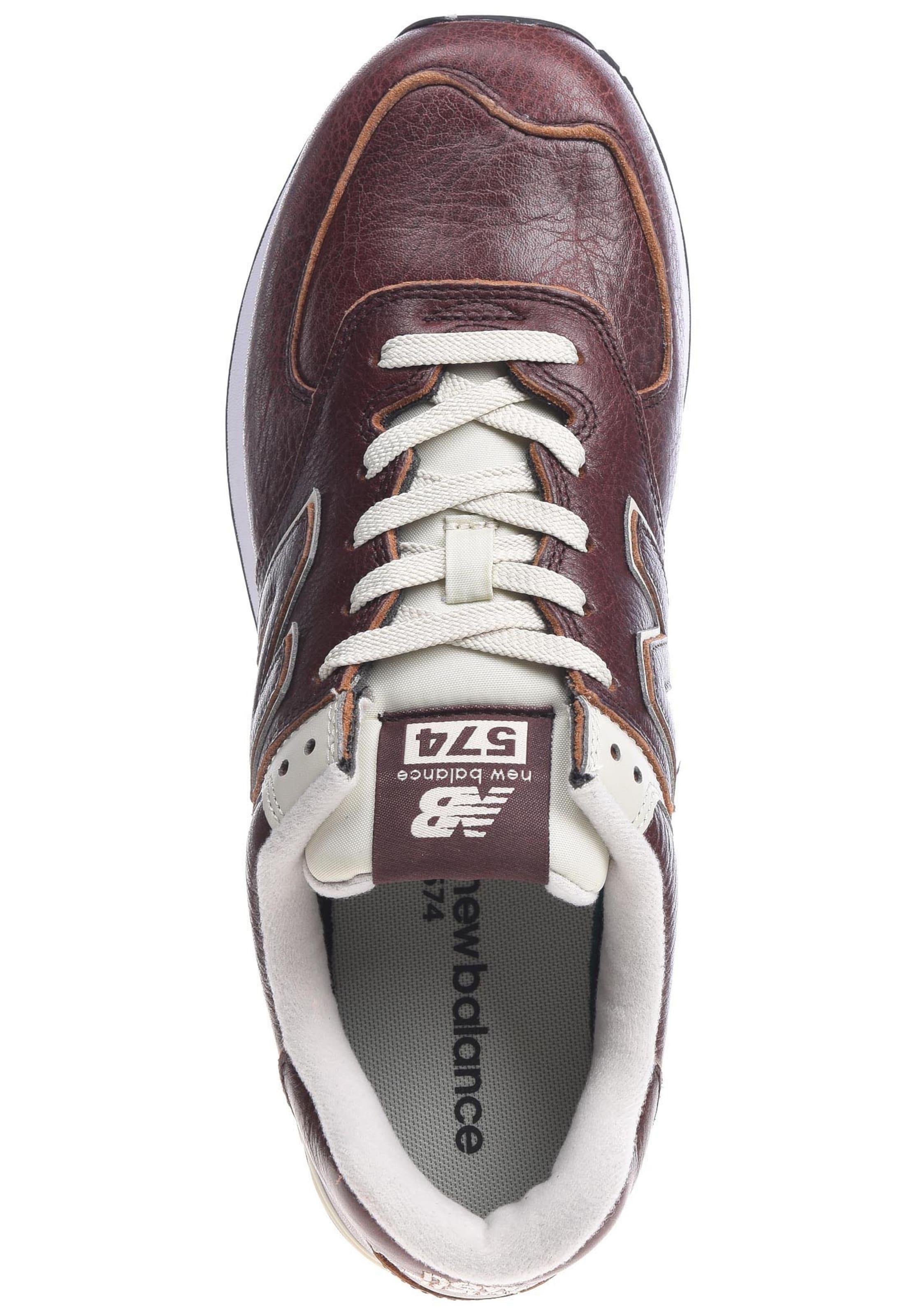 Sneaker D' Weiß 'ml574 New In Balance HellbraunWeinrot 0PnwO8k