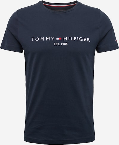 TOMMY HILFIGER Shirt 'TOMMY LOGO TEE' in de kleur Donkerblauw, Productweergave