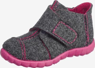 SUPERFIT Hausschuhe in dunkelgrau / pink, Produktansicht