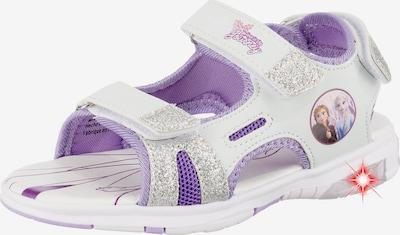 DISNEY Sandale in lila / weiß: Frontalansicht
