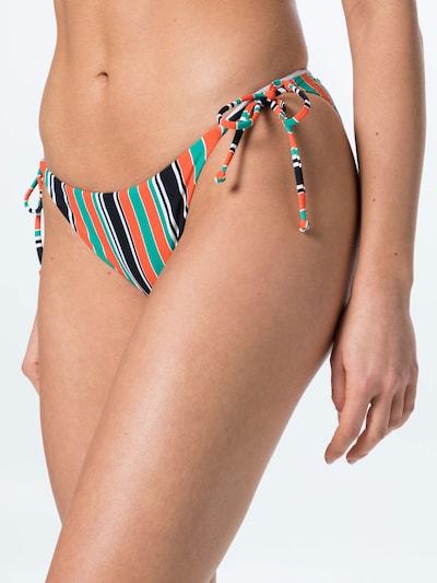 BILLABONG Sport-Bikinihose in grün / orange / schwarz: Frontalansicht