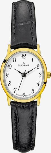DUGENA Armbanduhr in gold / schwarz / weiß, Produktansicht