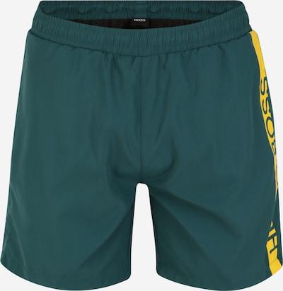 BOSS Plavecké šortky 'Dolphin' - žlutá / tmavě zelená: Pohled zepředu