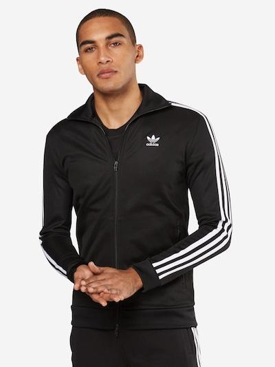 ADIDAS ORIGINALS Trainingsjacke 'FRANZ BECKENBAUER TRACKTOP' in schwarz / weiß: Frontalansicht